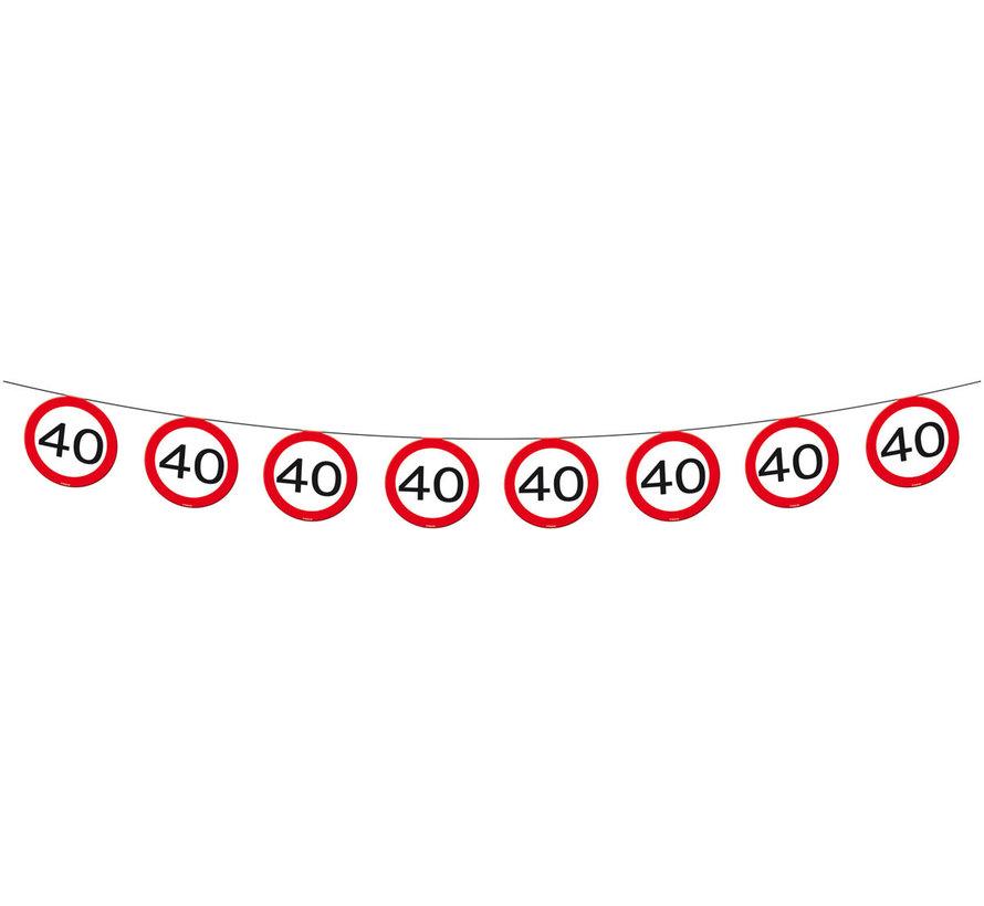 40 Jaar Verkeersbord Slinger -12 meter