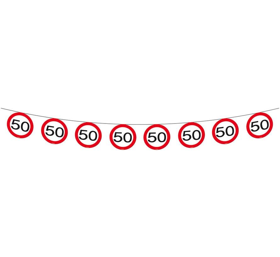50 Jaar Verkeersbord Slinger - 12 meter