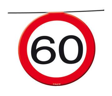 60 Jaar Verkeersbord Slinger -12 meter