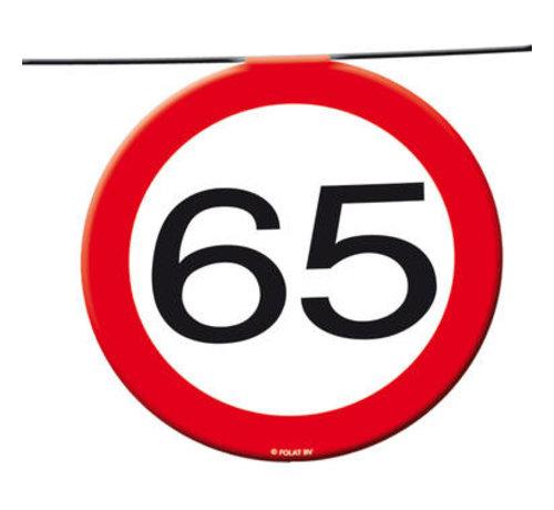 65 Jaar Verkeersbord Slinger -12 meter