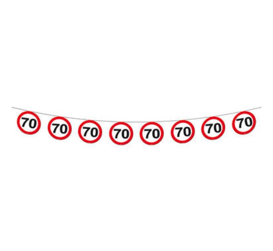 70 Jaar Verkeersbord Slinger -12 meter