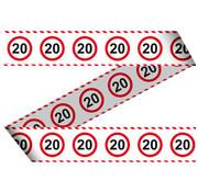 20 Jaar Verkeersbord Afzetlint -15 meter