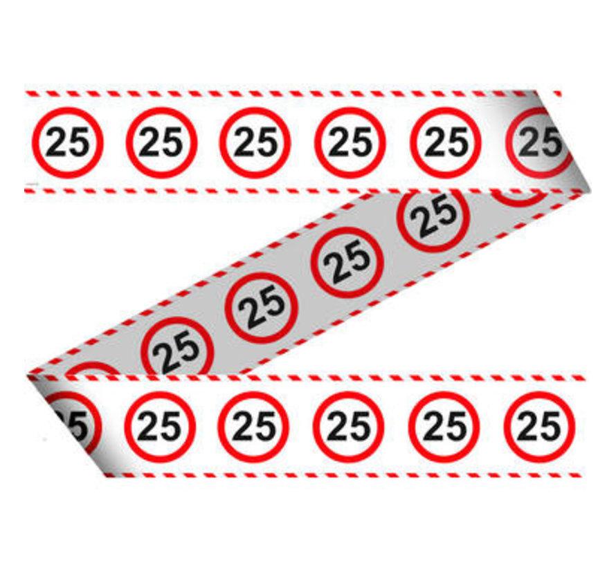 25 Jaar Verkeersbord Afzetlint -15 meter
