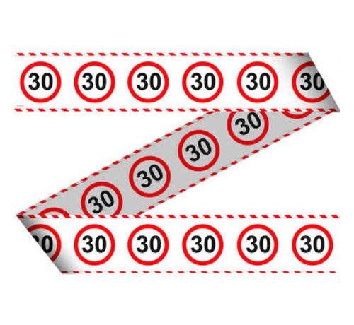 30 Jaar Verkeersbord Afzetlint -15 meter
