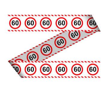 60 Jaar Verkeersbord Afzetlint - 15 meter