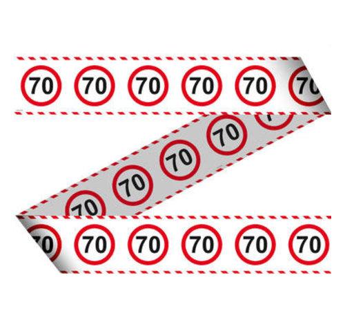 70 Jaar Verkeersbord Afzetlint -15 meter
