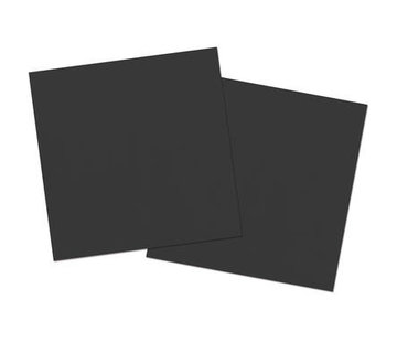 Zwarte Servetten - 20 stuks