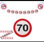 Feestpakket Verkeersbord 70 jaar - per stuk