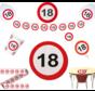 Feestpakket Verkeersbord 18 jaar - per stuk