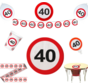 Feestpakket Verkeersbord 40 jaar - per stuk