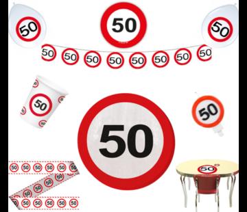 Feestpakket Verkeersbord 50 jaar - per stuk