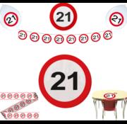 Feestpakket Verkeersbord 21 jaar - per stuk