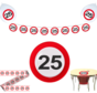 Feestpakket Verkeersbord 25 jaar - per stuk