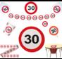 Feestpakket Verkeersbord 30 jaar - per stuk