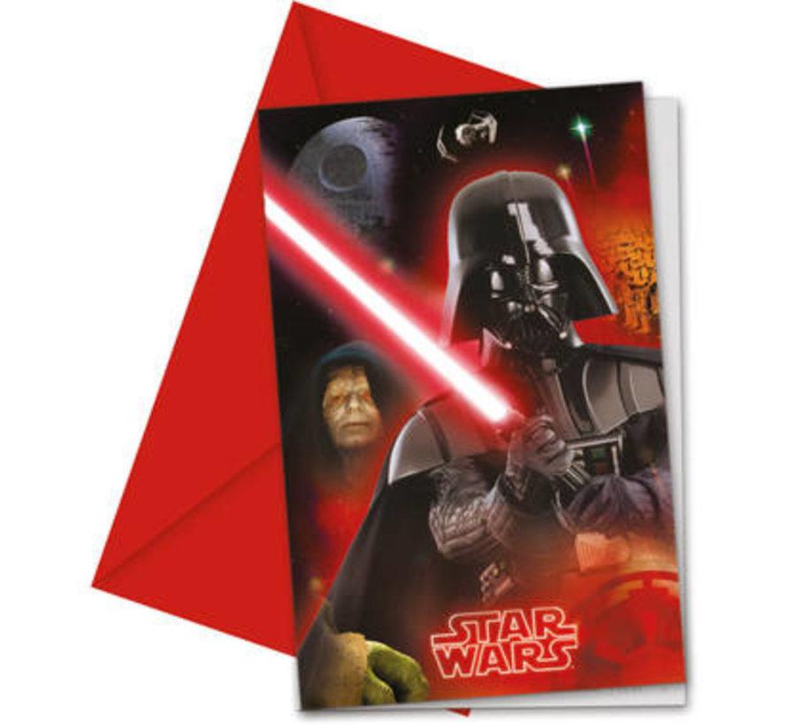Star Wars Final Battle Uitnodigingen - 6 stuks