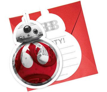 Star Wars The Last Jedi Uitnodigingen - 6 stuks