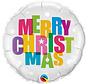 Merry Christmas Folieballon 45cm - per stuk