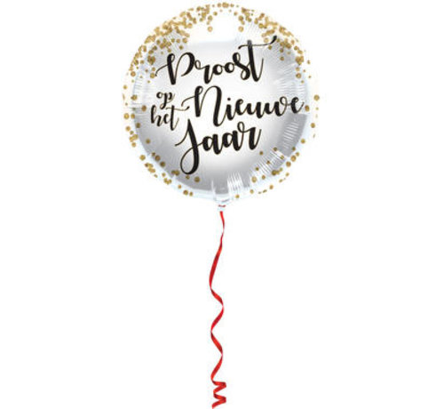 Nieuwe Jaar Folieballon 45cm - per stuk