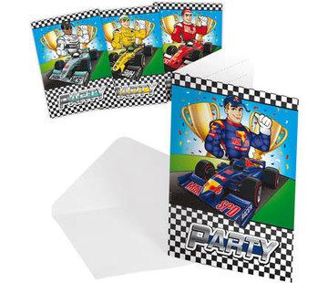 Formule 1 Uitnodigingen - 8 stuks
