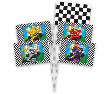 Formule 1 Zwaaivlaggetjes - 8 stuks