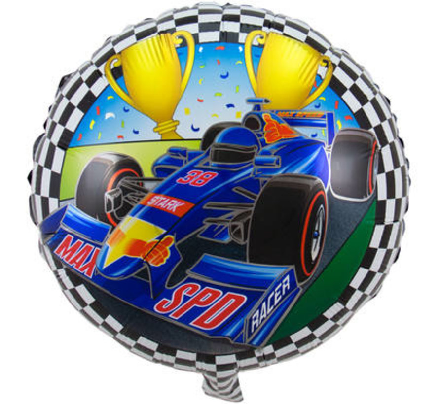 Formule 1 Folieballon 45cm - per stuk