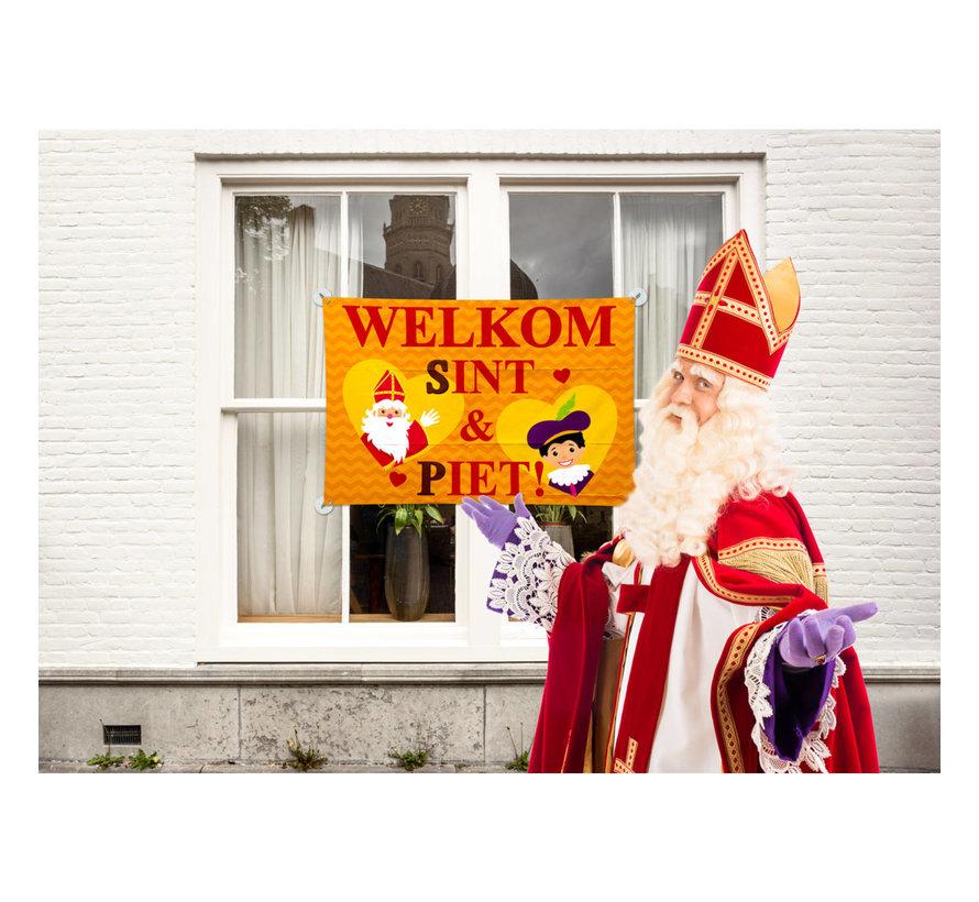 Sint en Piet Raamvlag - 90x60cm
