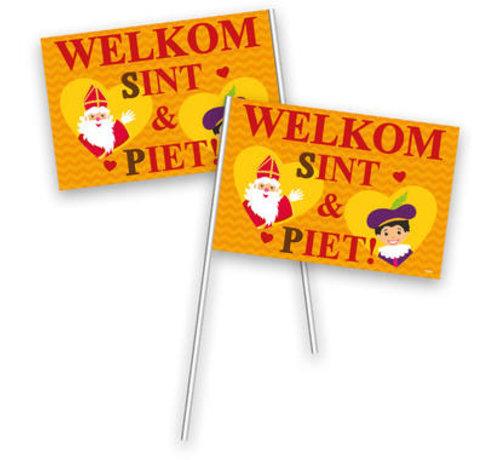 Zwaaivlaggetjes Sinterklaas - 30x20cm