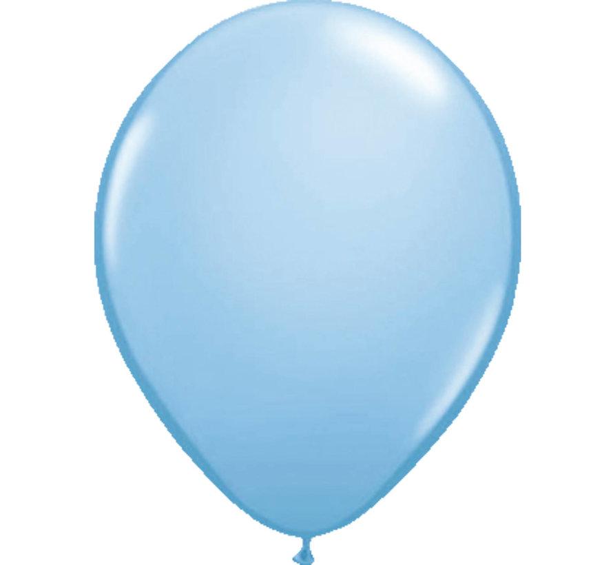 Lichtblauwe Metallic Ballonnen 30cm - 10 stuks