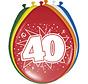 40 Jaar Ballonnen Meerkleurig 30cm - 8 stuks