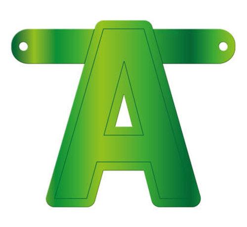 Letterslinger A Lime Groen
