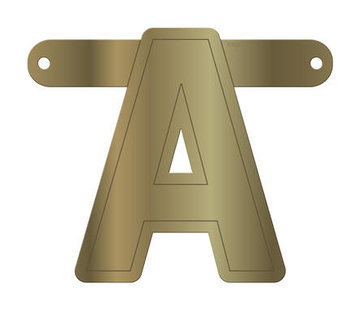 Letterslinger A Metallic Goud