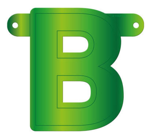 Letterslinger B Lime Groen