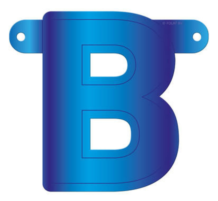 Letterslinger B Blauw