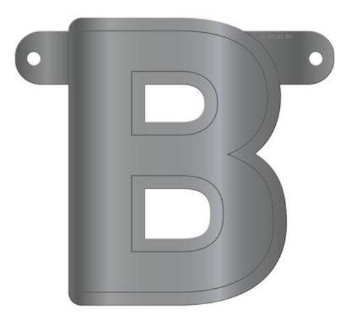Letterslinger B Metallic Zilver
