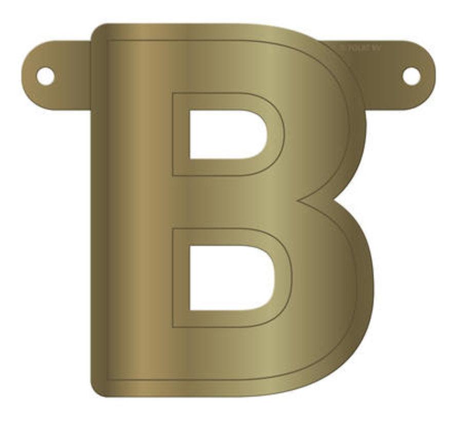 Letterslinger B Metallic Goud