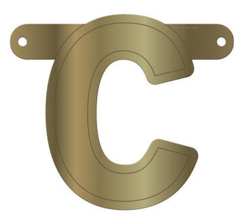Letterslinger C Metallic Goud