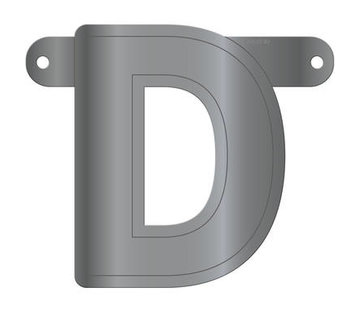 Letterslinger D Metallic Zilver