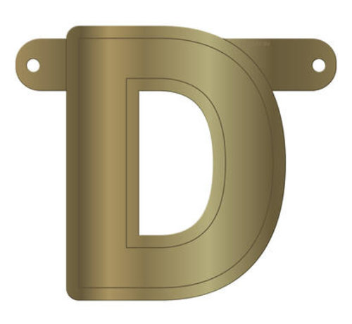 Letterslinger D Metallic Goud