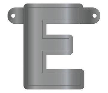 Letterslinger E Metallic Zilver