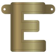 Letterslinger E Metallic Goud