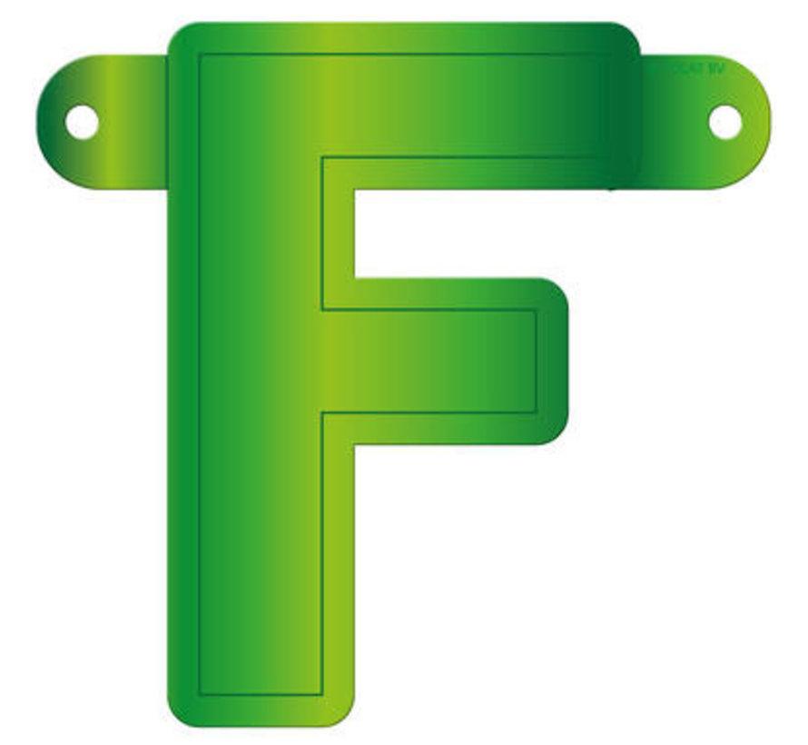 Letterslinger F Lime Groen