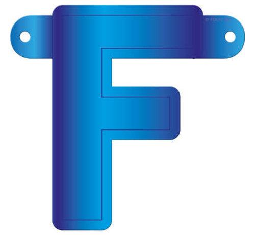 Letterslinger F Blauw