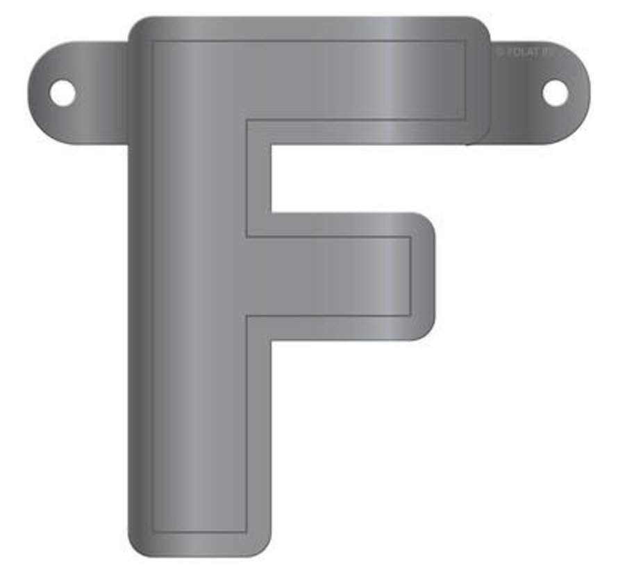 Letterslinger F Metallic Zilver