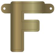 Letterslinger F Metallic Goud