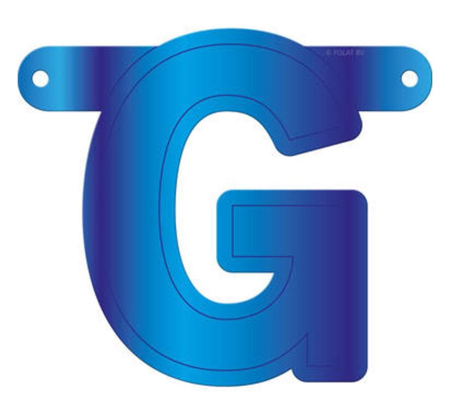 Letterslinger G Blauw