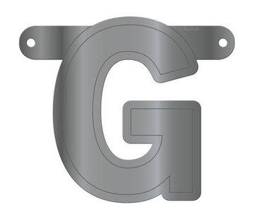 Letterslinger G Metallic Zilver