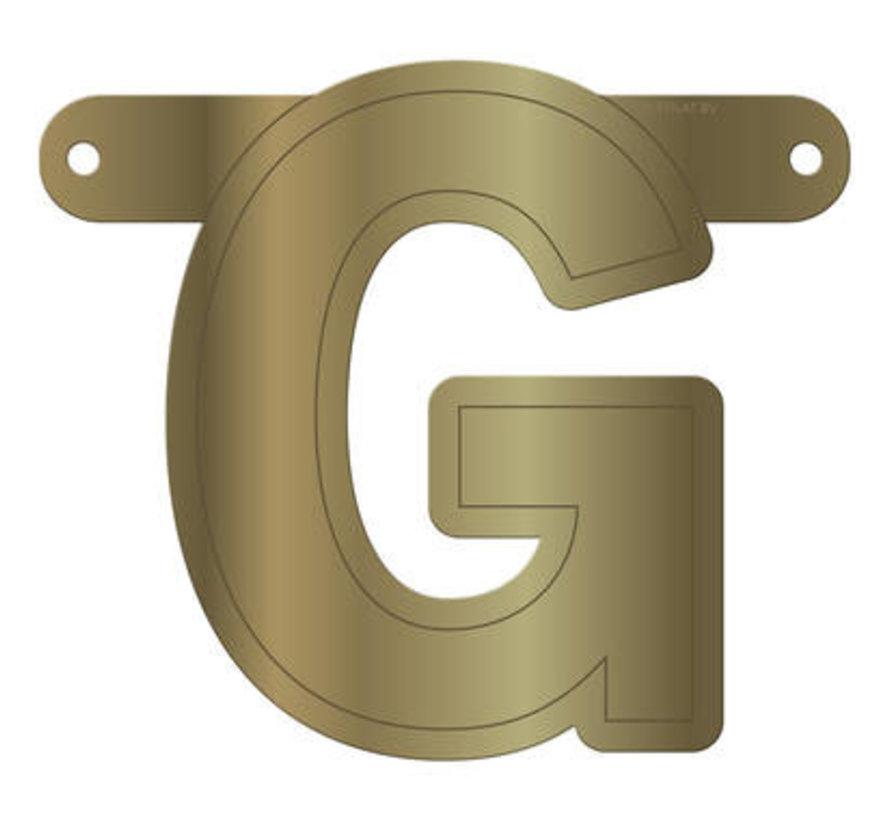 Letterslinger G Metallic Goud