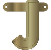 Letterslinger J Metallic Goud