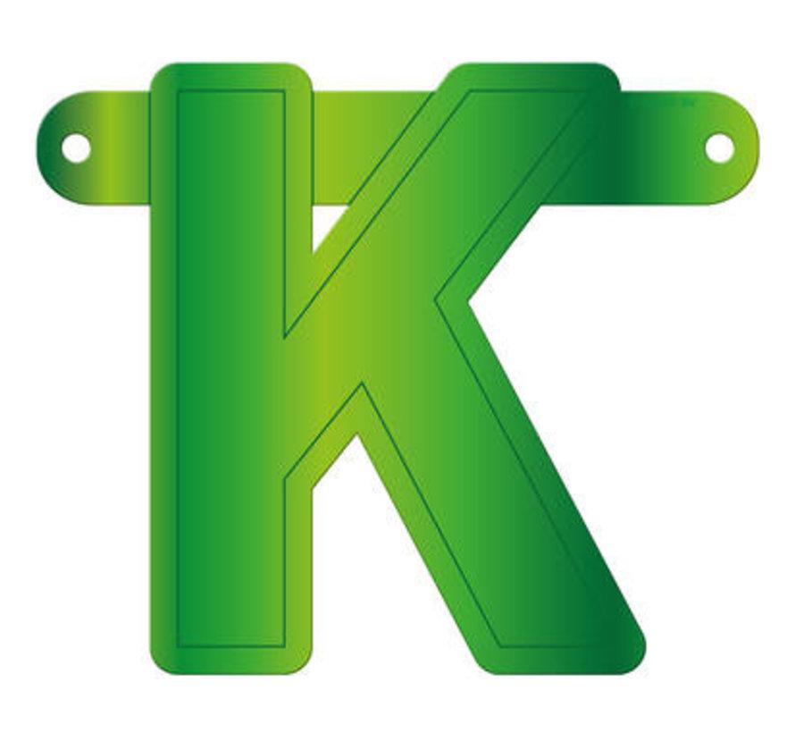 Letterslinger K Lime Groen