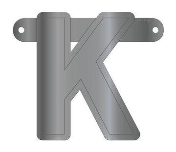 Letterslinger K Metallic Zilver